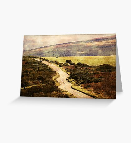 On the Long Road Greeting Card