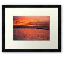Red sky at morning, shepherd take warning! Framed Print