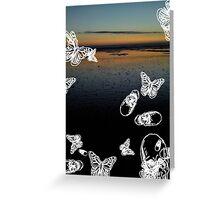 Fistral Beach noir Greeting Card