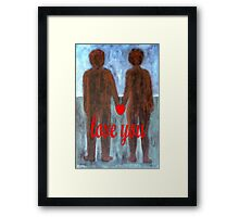 LOVE YOU 8 Framed Print