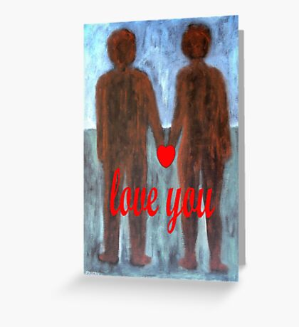 LOVE YOU 8 Greeting Card