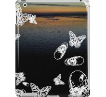 Fistral Beach noir iPad Case/Skin