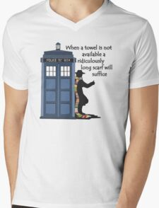 Hitch-hiking Doctor Mens V-Neck T-Shirt