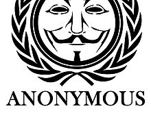 Anonymous Guy Fawkes Circle Symbol by kwg2200