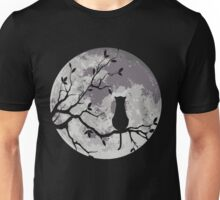 The Cat And The Moon Unisex T-Shirt