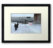 Skating On The Assiniboine River Framed Print