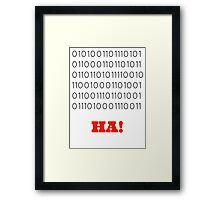 Binary Insults Framed Print
