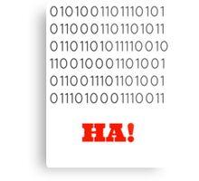 Binary Insults Metal Print