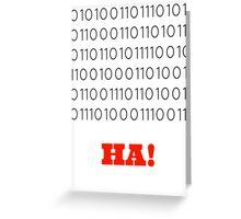 Binary Insults Greeting Card