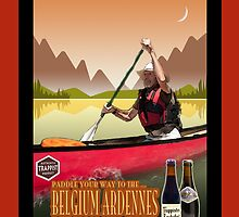 Phone case: Canoeing with Trappist Beers by Steven House