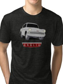 Ford Anglia - Semi Transparent With Badge Tri-blend T-Shirt