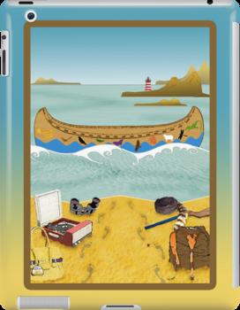 Ipad: Canoe to Moonrise Kingdom by Steven House