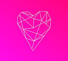 Geometric Heart by MaggieMartinArt