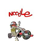 Gorillaz: Noodle (White) by Verbal72