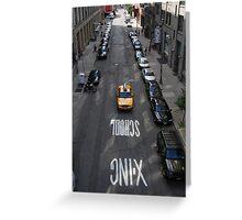 Lone Taxi Greeting Card
