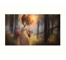 The Meadow Witch Art Print