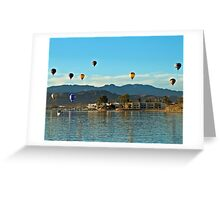 Balloons Over The Bay Greeting Card