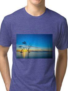 Beachmere Beach Silhouette Sunrise Tri-blend T-Shirt