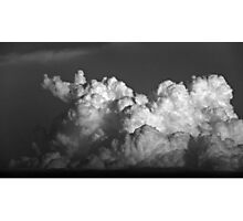 CUMULUS CLOUDS IN BLACK AND WHITE Photographic Print