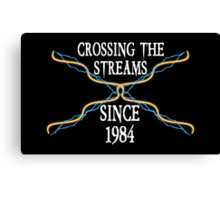 Crossing The Streams Since 1984 Canvas Print