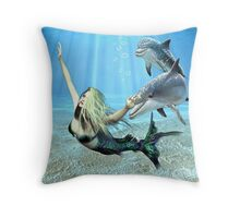 The Little Mermaid & Friends Throw Pillow