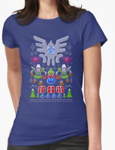 Dragon Quest Ugly Sweater Womens Fitted T-Shirt