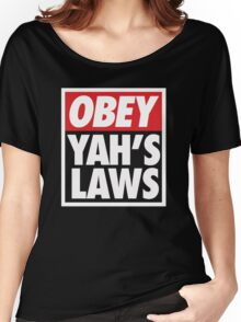 Obey Yah's Laws BLK Women's Relaxed Fit T-Shirt