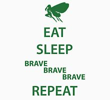 Eat Sleep Brave Brave Brave Repeat (green) Unisex T-Shirt