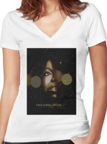 Nina Simone I Put A Spell On You Women's Fitted V-Neck T-Shirt