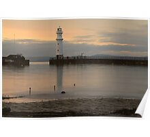 Sunset over Newhaven Harbour Poster