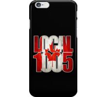 Local 1005 Canada Flag (Black) iPhone Case/Skin