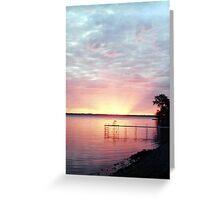 Lake Winnebago Sunrise Greeting Card