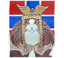 Freya, Goddess of Love & War Cat Poster