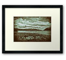 The Lakes. Framed Print