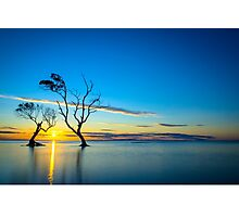 Beachmere Beach Silhouette Sunrise Photographic Print