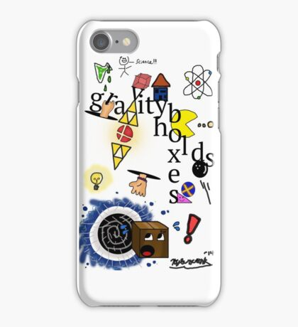 Gravity holds boxes iPhone Case/Skin
