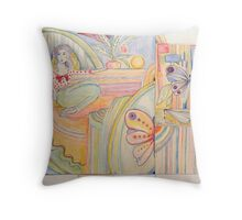 venus in sections Throw Pillow