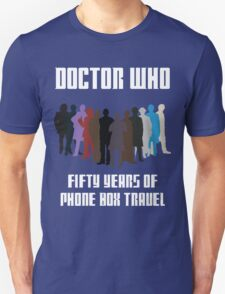 50 Years of Phone Box Travel Unisex T-Shirt