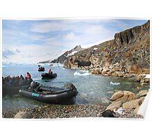 Expeditioners at Cierva Cove Poster