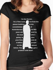 10th Doctor quote shirt Women's Fitted Scoop T-Shirt
