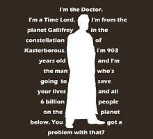 10th Doctor quote shirt Unisex T-Shirt