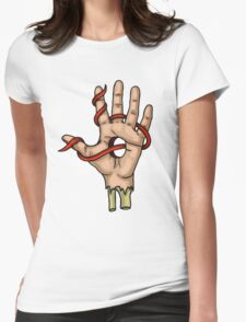 Ribbon Fingers Womens Fitted T-Shirt