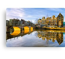 Winter morning in Amsterdam Canvas Print