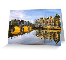 Winter morning in Amsterdam Greeting Card