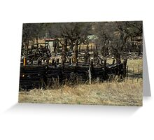 Rustic Log Fence Greeting Card