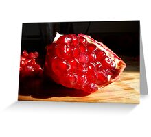 Pomegranate Slice Greeting Card