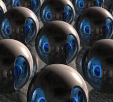 Alien Invasion At Dawn Sticker