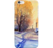 Winter light. Village. Russia iPhone Case/Skin
