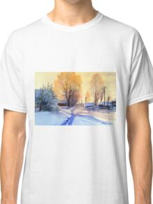 Winter light. Village. Russia Classic T-Shirt