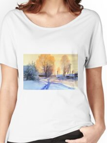 Winter light. Village. Russia Women's Relaxed Fit T-Shirt